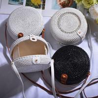 daire sutyen toptan satış-Tasarımcı çanta Çanta Kadınlar Seyahat Rattan Straw Bohemya Plaj Çember Çanta Çanta Aksesuar Kadın Tasarımcı Çanta