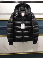 ceket furring erkekler toptan satış-Erkek Kadın Klasik marka Rahat Aşağı Ceket Parlak mat Aşağı Palto Erkek Açık Kürk Yaka Sıcak Tüy elbise Unisex Kış sıcak Ceket dış giyim