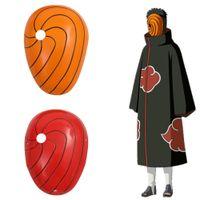 ingrosso accessori anime accessori-Japan Anime Naruto unisex Hokage Akatsuki del fumetto di Halloween Accessori Cosplay Prop 2 colori faccia regalo Mask