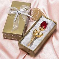 Wholesale crystal wedding giveaways for sale - Group buy Crystal Rose European Style Rugosa Roses Wedding Celebration Return Ceremony Creative Wedding Favors Giveaways Gift Valentine Day jc p1