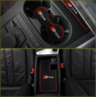 tor zubehör großhandel-Hohe Qualität Tor Slot Pad Gummi Car-Cup Matte / Pad rutschfeste Matte Autozubehör für Audi A4 B8 B9 A4L 2011-2019 Auto Styling