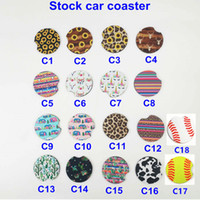 Wholesale coaster mats for sale - Group buy 18style baseball softball design Neoprene Car Coasters Car Cup Holder Coasters for Car Cup Mugs Mat Contrast Home Decor Accessories