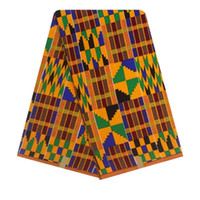 material de cera africano venda por atacado-Ankara Tecido 6yard Africano Tecido De Cera Hollandais Alta Qualidade Africano Hollandais Real Cera Holandesa Material Aso Ebi