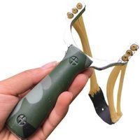ingrosso fascia di fascia-Camouflage lupo fionda 3 fili elastico fionda all'aperto competitivo tiro pesca caccia fionda Caccia Fionde