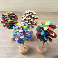 varas de madeira venda por atacado-Candywood De Madeira Helicone Varinha Mágica Stress Relief Toy Lollipop Girando Criativo Arte Decoração Escritório Descompressão Menino Meninas