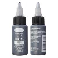 Wholesale glued wigs for sale - Group buy 1Bottle Floz Hair Bonding Glue Super Bonding Liquid Glue For Weaving Weft Wig Hair Extensions Tools Professional Salon Use