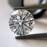 Wholesale brilliant diamonds for sale - Group buy 0 CT to CT G color FL round brilliant cut moissanite diamond stone test positive lab synthetic diamond with a waist code and certificate