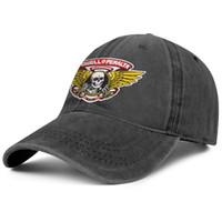 gorras de cadetes del ejército al por mayor-Womens Mens Plain Ajustable Powell Peralta logo Hip-Hop Cotton Trucker Hat Bucket Sombreros para el sol Cadet Army Caps Airy Sombreros de malla para hombres Mujeres