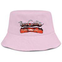 sombreros de cubo rosa al por mayor-The Cure Kiss Me Lip rosa hombres pescador bucket sun hat cool fit custom fashion personalizado bucket suncap personalizado