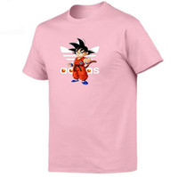temel pamuklu t-shirt toptan satış-T Gömlek Dragon Ball Erkek Kadın T-Shirt Goku En Tees Insaiyan Pamuk Giyim Rahat Erkek Grafik Temel Yumuşak