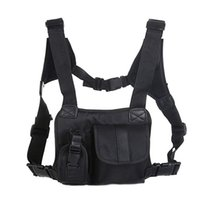 тактический пакет грудной клетки оптовых-Unisex Tactical Shoulder Bag Chest Rig Bag Hip Hop Streetwear Men Functional Waist Packs Adjustable Pockets Waistcoat West 2019