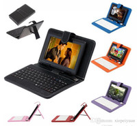 Wholesale red inch tablet bundle resale online - Q88 quot Android GB Tablet PC A33 Quad Core Dual Camera MB Capacitive WIFI Tablet Bundle quot USB Leather Keyboard Case