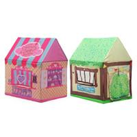 ingrosso ragazzi di tenda rosa-Pink Green Store Gioca Tent Caste House For Kids Bambini Baby Kids Toy Gioca Tents Tunnel House per il regalo di Natale
