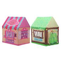 rosa zelt kinder groihandel-Pink Green Store Spielzelt Kastenhaus für Kinder Kinder Baby Kinder Spielzeug Spielzelte Tunnelhaus für Weihnachtsgeschenk