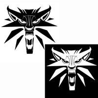 Wholesale witcher medallion resale online - Creative Stickers Black Silver Decal Medallion Vinyl Witcher Wolf Styling Car Car Wmtkv