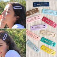 heißes nettes schönes mädchen großhandel-Hot 1 STÜCK Korean Candy Farbe BB Haarspange Frauen Mädchen Schöne Nette 2019 Neue Haarspangen Pins
