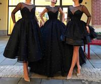 arten reizvolle kleider groihandel-2019 neue reizvolle drei Arten Arten Ballkleid-schwarze Perlen-bloße Reihen nach Maß würdevolles Abendkleid-Abendkleid vestidos de novia