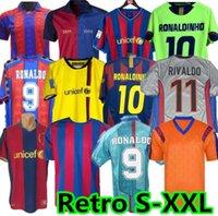 Wholesale 07 retro jersey FIGO XAVI RONALDINHO RONALDO RIVALDO GUARDIOLA Iniesta Year Barcelona PIQUE XANI Henry Stoitchkov