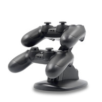 Wholesale ps4 controller handle online - TOP for PS4 Game Controllers Slim aircraft double charge double handle game charger wireless charger bracket Glowing while charging
