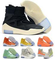 ingrosso b ossa-Light Bone Fear Of God 1 Scarpe da basket Sneakers Airing 2019 Fashion Designers Orange Pulse Amarillo Grigio FOG Boots Zoom Mens Scarpe da donna