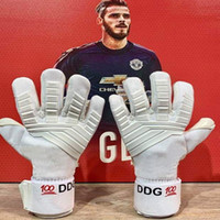 guantes xs al por mayor-Guantes de portero profesionales sin protección para los dedos Espesado 4 mm Látex Guantes de portero Fútbol Fútbol Porteros de portero Guantes