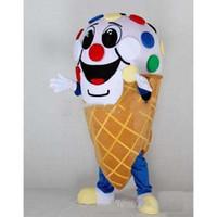 fabrik eis großhandel-Rabatt Fabrikverkauf Eiscreme-Maskottchen-Kostüm-Fantasie-Geburtstags-Party-Kleid Halloween Karneval Kostüme