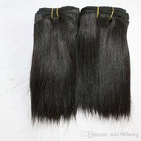 Wholesale black women hair weave styles resale online - 100g piece short black natural curly brazilian hair extensions cuts short hair styles for women