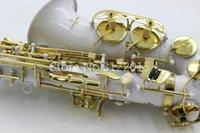 saxofon blanco al por mayor-Yanagisawa A-992 Alto Eb Tune saxofón Nueva Cuerpo Blanco Gold Key Laca instrumento musical E plana envío gratuito Sax Alto Saxophone