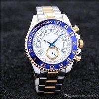 caballeros de oro al por mayor-2019 reloj para hombre de lujo de calidad superior principal de acero inoxidable completo automático mecánico Gent's Gold Gold 44mm macho watc