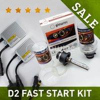 adaptador de xenon al por mayor-1 Set 12V 35W AC Fast Start D2C D2S D2R con adaptador D2 D4S D4R HID XENON HID Kit lámpara de xenón de lastre GLOWTEC