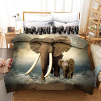 Wholesale 3d elephant bedding set for sale - Group buy 3D Animal Elephant Print Bedding Set Duvet Covers Pillowcases One Piece Comforter Bedding Sets Bedclothes Bed Linen
