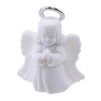 jóias anjos venda por atacado-Anjo de luxo Anéis Colar de Jóias Caixa de Exibição de Flanela Caixa de Jóias Branco Presente Recipiente Caso Embalagem