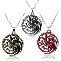 Wholesale 56cm necklace for sale - Group buy Valentine s Day Gift The Song Of Ice And Fire Game Of Thrones Daenerys Targaryen Dragon Badge cm Chain Necklace