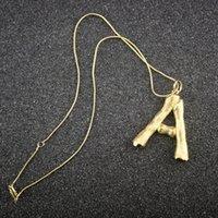 bohem gold jewelry toptan satış-Kadın Altın Mektubu Kolye Kolye Tasarımcısı Takı Lüks Tasarım Bayan 14 k Altın Kolye Charms Bohemian Güzel Takı