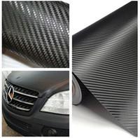 araba için yeni çıkartmalar toptan satış-2019 Yeni Sıcak 1.27 M x 30 cm DIY karbon fiber araba için sarılmış sticker, bilgisayar, pencere, motosiklet