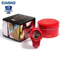relógios de edição limitada para homens venda por atacado-Venda quente MARVEL edição limitada mens relógios pulseira de borracha homem de ferro e capitão américa relógio à prova de choque legal designer de relógios à prova d 'água