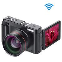 видеокамера sd hd оптовых-Видеокамера Цифровой Фотокамеры, Полная камера HD 1080P 24.0 MP MELCAM YouTube Vlogging с широкоформатным объективом и карточкой 32GB SD, 3.0