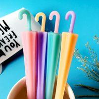 Wholesale umbrella pens resale online - Cute Umbrella Gel Pen Soft Rubber Material Escolar Kawaii Stationery School Office Supplies for Children Gifts J191219