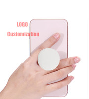 bolsas de plastico para celulares al por mayor-Soporte para teléfono plegable de plástico Soporte para teléfono y celdas de agarre Soporte de empuñadura plegable para el dedo de la mano para iPhone Xs Max Samsung con bolsa OPP