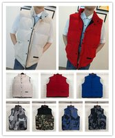 Wholesale parka for for sale - Group buy mens designer vest canadian jackets winter coats for christmas male parka trendy white black down waistcoats outerwear cotton down vest hot