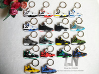 Wholesale kid chains resale online - NEW Mini Silicone Shoes Keychain Bag Charm Woman Men Kids Key Ring Gifts Sneaker Key Holder Key Chain