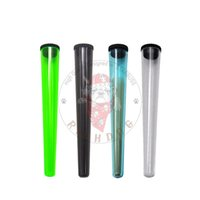 Wholesale sealed container boxes for sale - Group buy King Size Tobacco Plastic Tube Stash Jar Waterproof Airtight Sealing Herb Container Storage Case Cigarette Rolling Cone Paper Tube Pill Box