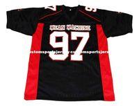 sayılar için makina toptan satış-toptan Switowski'nin # 97 Mean Machine Yeni Futbol Jersey Siyah Dikişli Özel herhangi bir sayı adı BAY BAYAN GENÇLİK Futbol JERSEY