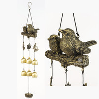 BWinka Newest Birds Wind Chime 6 Pieces Bronze Bells Amazing Grace Wind Chimes for Garden, Yard, Patio and Home Decor with Hook