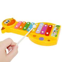 bébé instruments de musique jouets achat en gros de-Bébé 8-Note Xylophone Musical Maker Jouets Xylophone Musique Instrument Son Jouets Intelligence Jouets Nouveauté Articles CCA11733 120pcs