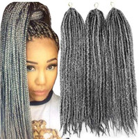 ingrosso estensioni dei capelli dell'acqua calda-Crochet Box Trecce Capelli 14