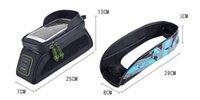 sacoche de vélo achat en gros de-Écran tactile anti-pluie faisant du vélo devant le cadre du tube avant BagsROCKBROS VTT route vélo sacs de vélo 5.8 / 6.0 téléphone cas accessoires de vélo