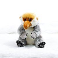 affe große puppe großhandel-Tourismus-Jahr-Samt-Puppen-langnasige Affen Zhwenyin Malaysia nette Baby-Affe-Maskottchen-Plüsch-Puppen-große Karikatur-Puppen Y19070103