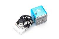 mikro kablosuz alıcı toptan satış-Yeni Mini Hoparlör Radyo Kablosuz Taşınabilir Mikro USB Stereo Hoparlörler Ubwoofer Sütun Süper Bas FM Radyo Receiver-5