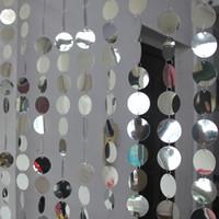 suministros de boda amarillo al por mayor-5 tiras / lote Festival Party Supplies PVC Lentejuelas Cortina Interior Sala de estar Puerta Decoración Del Hogar Cortinas DIY Wedding Supplie